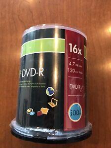 100 Pack HP Blank DVD-R 4.7GB