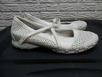 Woman's Skechers Bikers Mary Jane Leather Walking Shoes Size 10