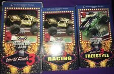 2 Tape Set Monster Jam World Finals 3 2002 VHS Tapes Las Vegas Sam Boyd Stadium