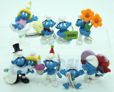 NEW 2013 SERIE COMPLETA GREETINGS RICORRENZE SCHLEICH PUFFO PUFFI SMURF SMURFS