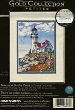 Beacon at Rocky Point Lighthouse Counted Cross Stitch Kit - Almost Completed!