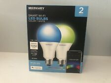 Merkury Innovations Smart WIFI LED Light Bulbs 75W Color + White - 2-Pack - A21