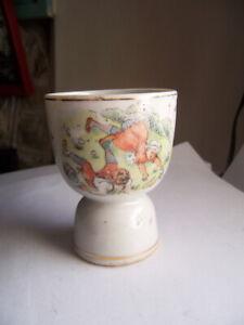 ANTIQUE vintage EGG CUP HOLDER  Jack and Jill  illustrated poem cute JAPAN