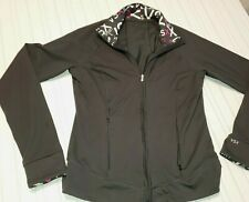 Women's Victoria Secret Sport Zippered Sweat Shirt - Jacket Size Medium Black