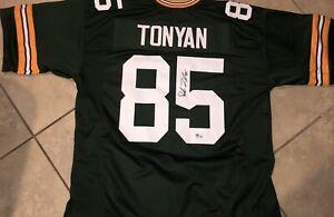 Robert Tonyan Greenbay Packers Autographed Jersey Coa Beckett M