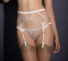 AGENT PROVOCATEUR AMBROSE PINK SUSPENDER SMALL / AP2 / 8-10 BNWT RRP £85