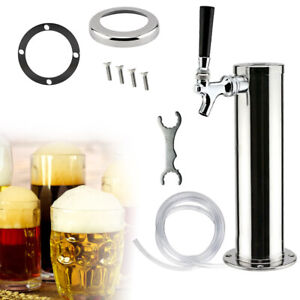 Draft Beer Tower Single Tap Faucets Stainless Steel Chrome Beer Tower Home Bar