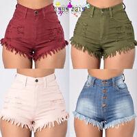 Fashion Women Summer High Waist Denim Jeans Beach Pants Hot Casual Short Shorts