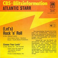 """ATLANTIC STARR - LET'S ROCK N ROLL / GIMME YOUR LUVIN BLITZ PROMO 7"""" SINGLE C588"""