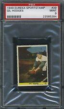 1949 Eureka Sportstamp stamp #39 Gil Hodges Brooklyn Dodgers PSA 9