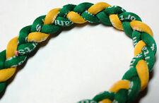 "NEW! 20"" Titanium Sport Necklace Green Yellow Ionic Tornado Bay Baseball Sports"