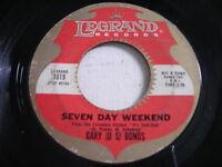 Gary (U S) Bonds Seven Day Weekend / Gettin' a Groove 1962 45rpm