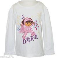 NEW Licensed Dora the Explorer Girls White Long Sleeve Top - Size 5