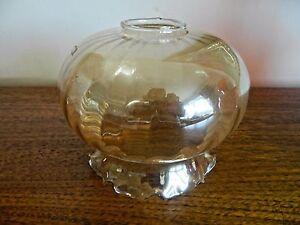 Vintage Retro Gold Lustre Glass Light Shade lamp Shade Frilled Edge