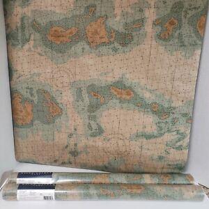 3 Double Rolls Ralph Lauren Home Wallpaper Nautical Map LCW17335 Maps Coastal