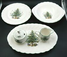 NIKKO HAPPY HOLIDAYS 5 PIECE SET OF NICE CHRISTMAS PLATES ~ MADE IN JAPAN