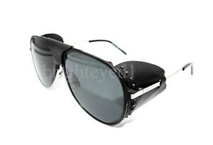 Authentic YVES SAINT LAURENT Black Pilot Sunglasses Classic 11 Blind-001 *NEW*
