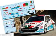 Decal 1:43 Bruno Magalhaes - PEUGEOT 207 S2000 - Rally Tour de Corse 2011