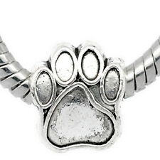 1PC Silver Tibetan European Charm Bead Fit Bracelet Dog's Paw 11x11mm
