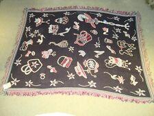 Hat Shoe and Handbag Tapestry Throw Jacquard Woven