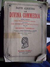 LA DIVINA COMMEDIA testo critico soc. dantesca commento Vandelli ed. Hoepli 1983
