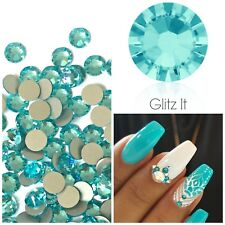Swarovski x 50 MIXED SIZE Light Turquoise GLUE ON Crystals Rhinestones Nail Art
