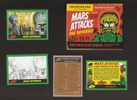 2017 Topps Mars Attacks The Revenge Green 110 Card Color & Pencil BASE SET W/Box