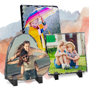 Personalised Photo Rock Slate - Any Photo & Text - Highest Quality- Ultra Glossy
