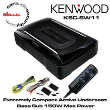 KENWOOD KSC-SW11 ACTIVE UNDERSEAT SUBWOOFER AMP BUILT-IN 150 WATTS BASS CONTROL