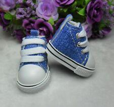 Yo SD Bjd 1/6 Size Doll Shoes Denim Sneaker BLUE (for Foot 4.5cm long)