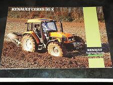 Prospectus  Tracteur RENAULT CERES 95 X   prospekt brohcure traktor tractor