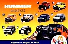 2006 McDonalds Hummer MIP Complete Set - Lot of 8