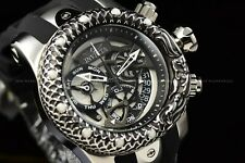 Invicta Men 52mm Venom Subaqua Dragon Scale Swiss Mvt  Silver Black Chrono Watch