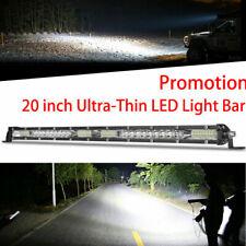 "Ultra-Thin LED Light Bar 20Inch 20"" 156W Slim Spot Driving Lamp Single Row"