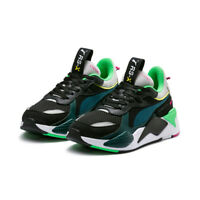 New PUMA RS-X Toys Sneakers Shoes- Black/Blue Atoll(369449-01/36944901)