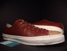 Converse CT CHUCK TAYLOR PREMIUM OX LEATHER FADED ROSE BURGUNDY RED 136695C 12