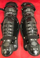 ONE NEW PAIR RAWLINGS Softball Baseball Catcher's Gear Umpire Shin Guards Black