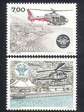 Monaco 1994 Helicopters/Aviation/ICAO/Aircraft/Transport/Flight 2v set (n35175)