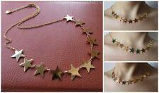Deliziosa collana girocollo con 11 stelle stelline oro Acciaio 316L -Moda Novità