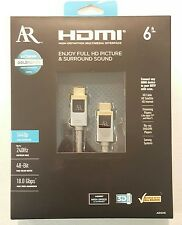 Acoustic Research ARGH6 Extreme Gold Series HDMI Cable 6ft, FREE Shipping