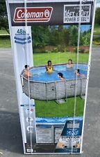 "New listing New Coleman Power Steel 16' x 10' x 48"" Oval Pool Set Swimming Pool W/ Ladder"