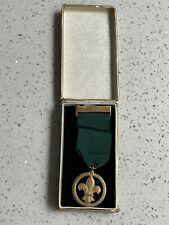More details for very old vintage boy scouts medal of merit i rodgers 14.6.1961