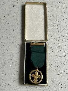 Very Old Vintage Boy Scouts Medal Of Merit I Rodgers 14.6.1961