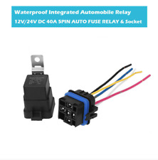 40A 12V 5 Pin Spdt Waterproof Integrated Auto Relay W/Socket On/Off Auto Switch