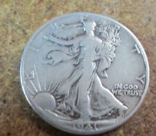 U.S. SILVER HALF DOLLAR--Walking Liberty--<1941>--90% Silver--Very Good++