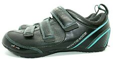 Bontrager Women's Inform Black 3 Strap Road Biking Shoes Size 10
