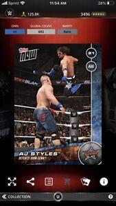 Topps WWE Slam *Digital* 2016 Topps NOW Summerslam - AJ Styles 693cc