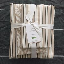 Pottery Barn THEO Bedding Ensemble Duvet Cover shams Sheet Set Queen BROWNSTONE