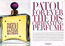 PUBLICITE ADVERTISING 025  1998  JEAN PATOU parfum femme FOR EVER  ( 2p)