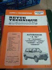 REVUE TECHNIQUE AUTOMOBILE ETUDES & DOCUMENTATION AUTOBIANCHI A112